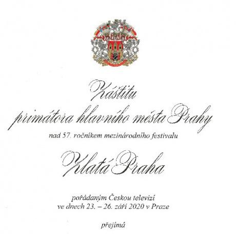 Záštita primátora hl.m. Prahy