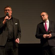 Ředitel festivalu Tomáš Motl a generální ředitel České filharmonie David Mareček.