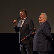 Ředitel festivalu Tomáš Motl a režisér snímků Jeden rok v životě choreografa Jiřího Kyliána & Adam Plachetka, cesta na vrchol, Martin Kubala