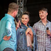 Zleva: Jan Onder, Monika Bagárová, Robin Ondráček